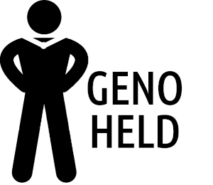 GenoHeld Logo schwarz weiß